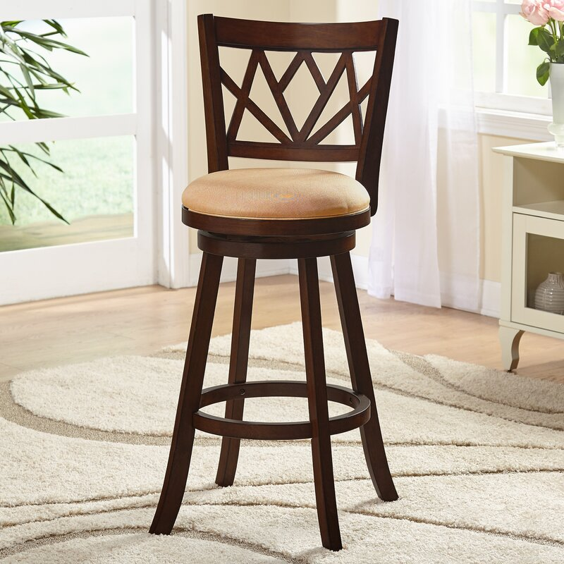 Birchmore 30\  Swivel Bar Stool & World Menagerie Birchmore 30\