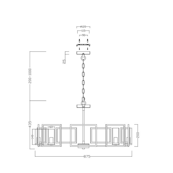 Ripley 8-Light Geometric Chandelier