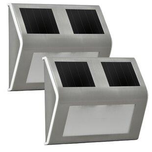 Sunforce Solar 2-Light LED Step Light (Set of 2)