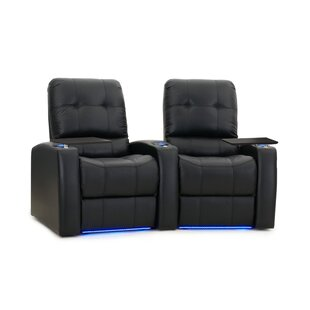 Large Blue LED Home Theater Curved Row Seating (Row of 2)