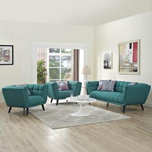 Brayden Studio Seneca 3 Piece Living Room..