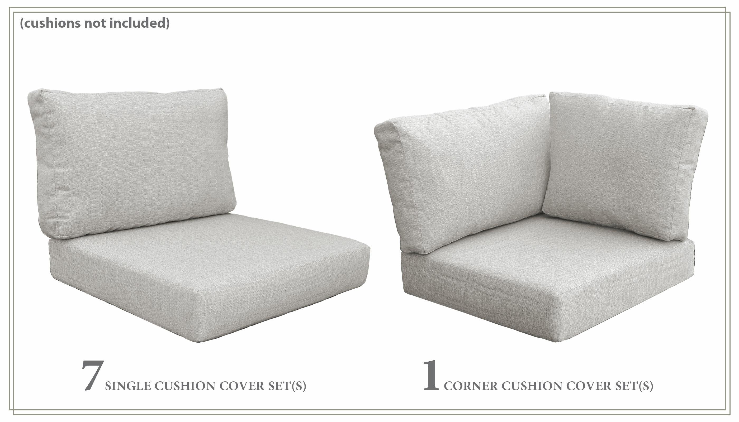 Kathy Ireland Homes Gardens By Tk Classics River Brook Indoor Outdoor 8 Piece Cushion Cover Set Wayfair