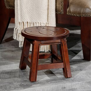 Rappaport Queen Bee Fairplay Carved Wooden Accent Stool by August Grove