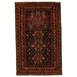 Find Afghan Baluch Hand-Knotted Wool Brown/Black Area Rug By Pasargad NY