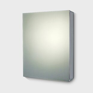 Price Check Gus Edge Mirror Door 30 x 24 Surface Mount Frameless Medicine Cabinet with 4 Adjustable Shelves BySymple Stuff