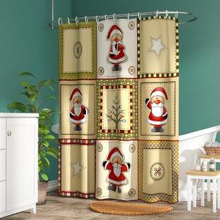 Buying Americana Holiday Shower Curtain ByThe Holiday Aisle