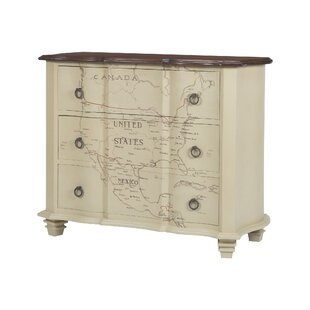 Martina Map of Americas 3 Drawer Chest by August Grove