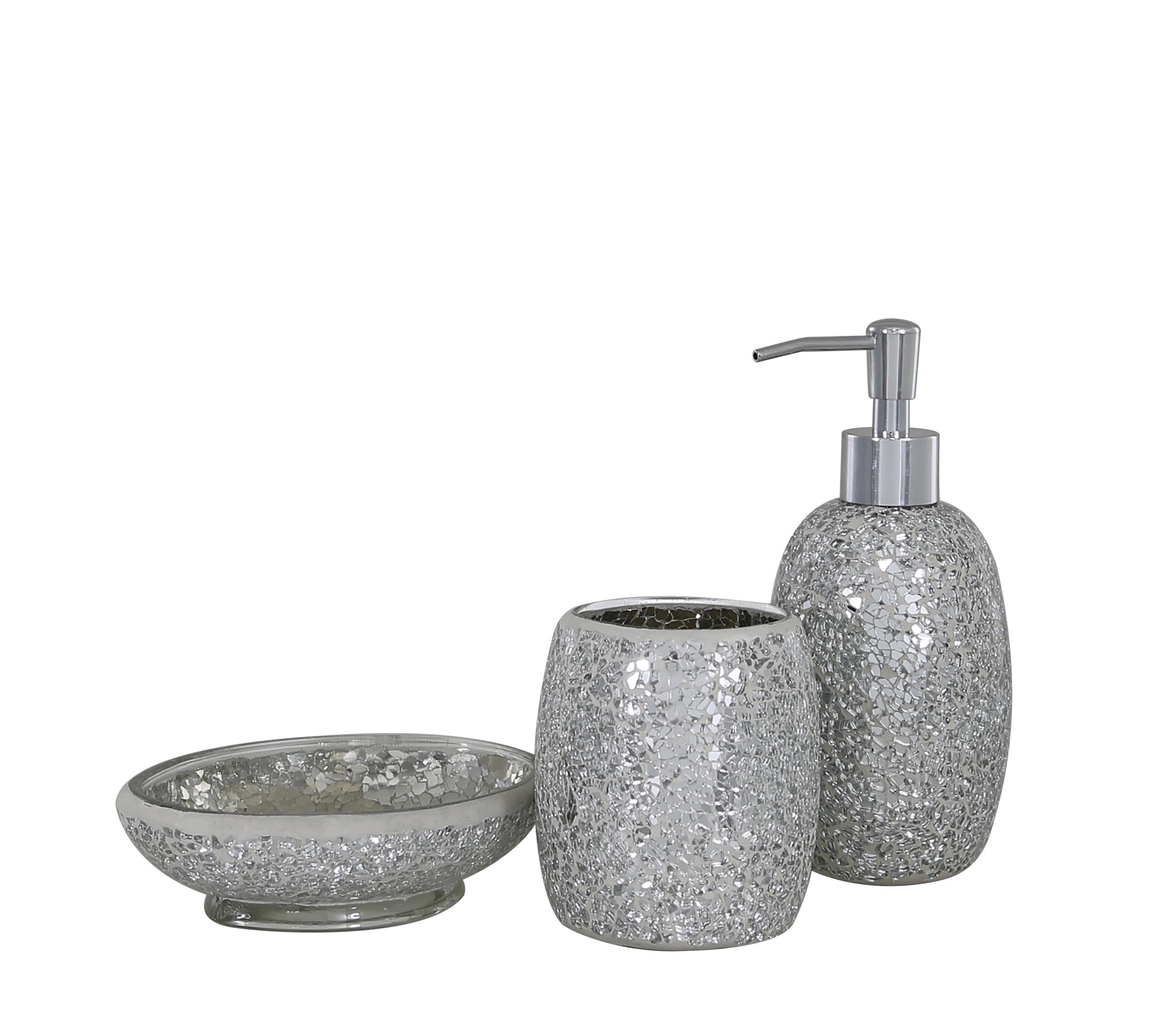 Belfry Bathroom Mosaic 3 Piece Accessories Set Reviews Wayfair Co Uk