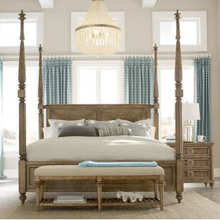 Price comparison Akrotiri Queen Four Poster Bed by Bay Isle Home Reviews (2019) & Buyer's Guide