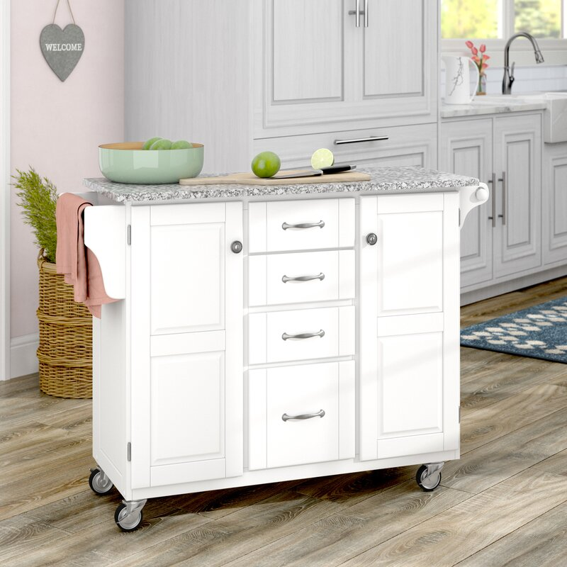 adelle a cart kitchen island with granite top - Granite Top Kitchen Island