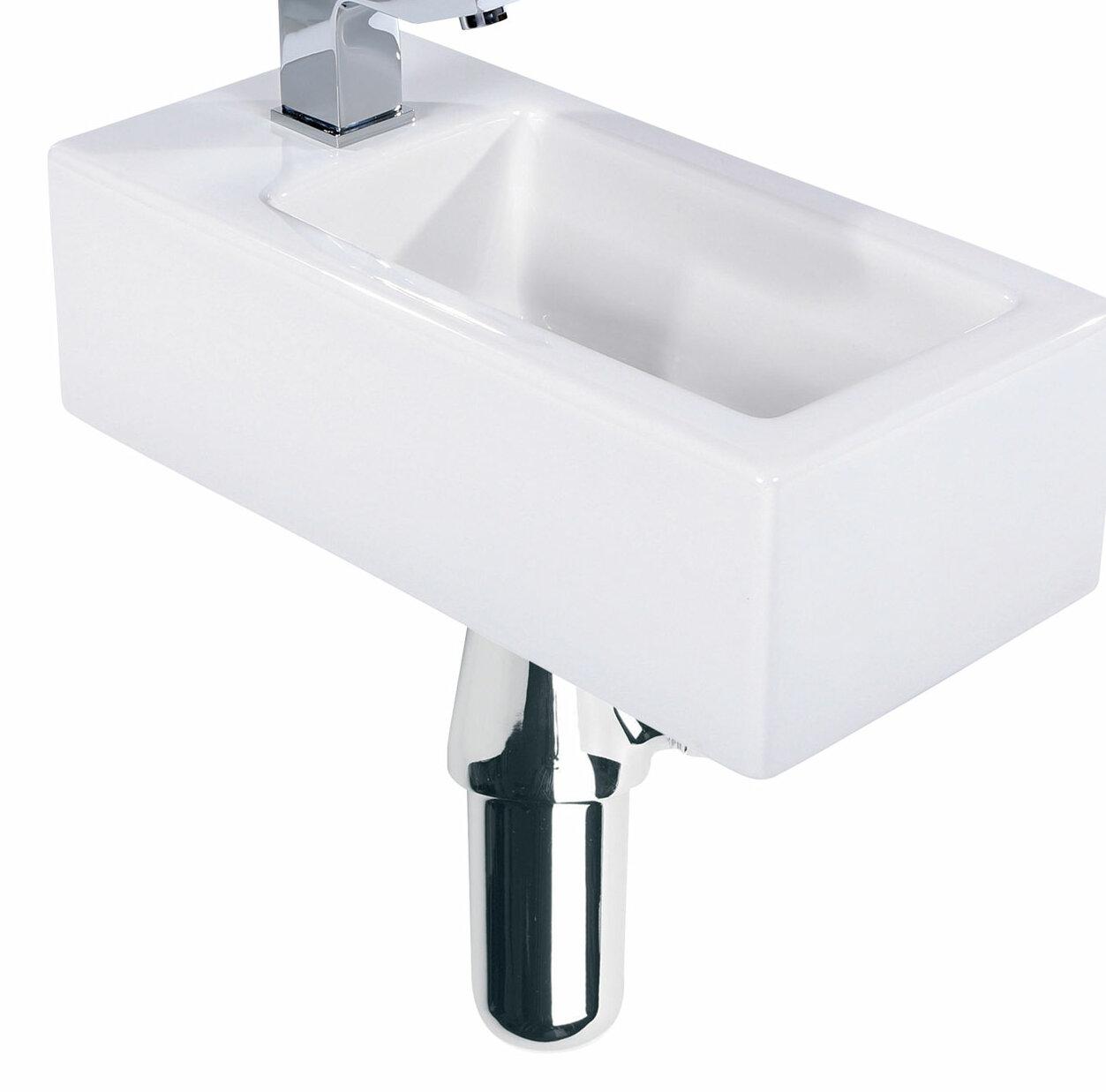 Ceramic Rectangular 510 Mm Cloakroom Basin And Trap