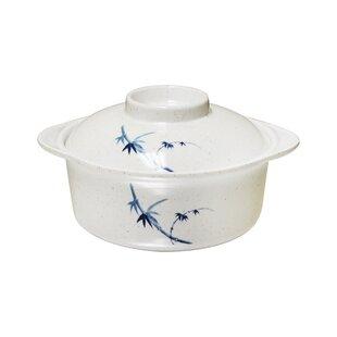 Hensley 12 oz. Melamine Miso Bowl with Lid (Set of 12)