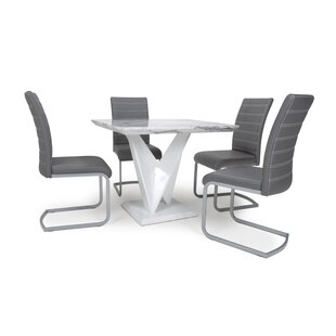 Auden Dining Set With 4 Chairs By Wade Logan