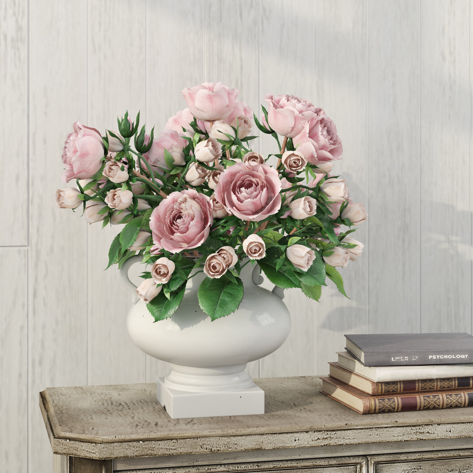 BEAUTIFULLY CRAFTED ROSE URN SET SKU 106
