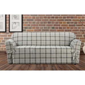 Highland Plaid Box Cushion Sofa Slipcover by..