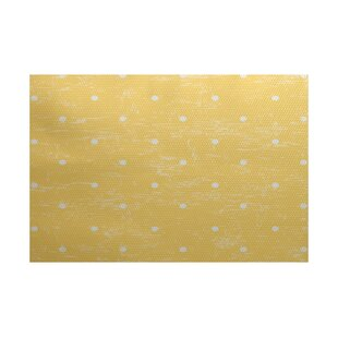 Golden Beach Yellow Indoor/Outdoor Area Rug