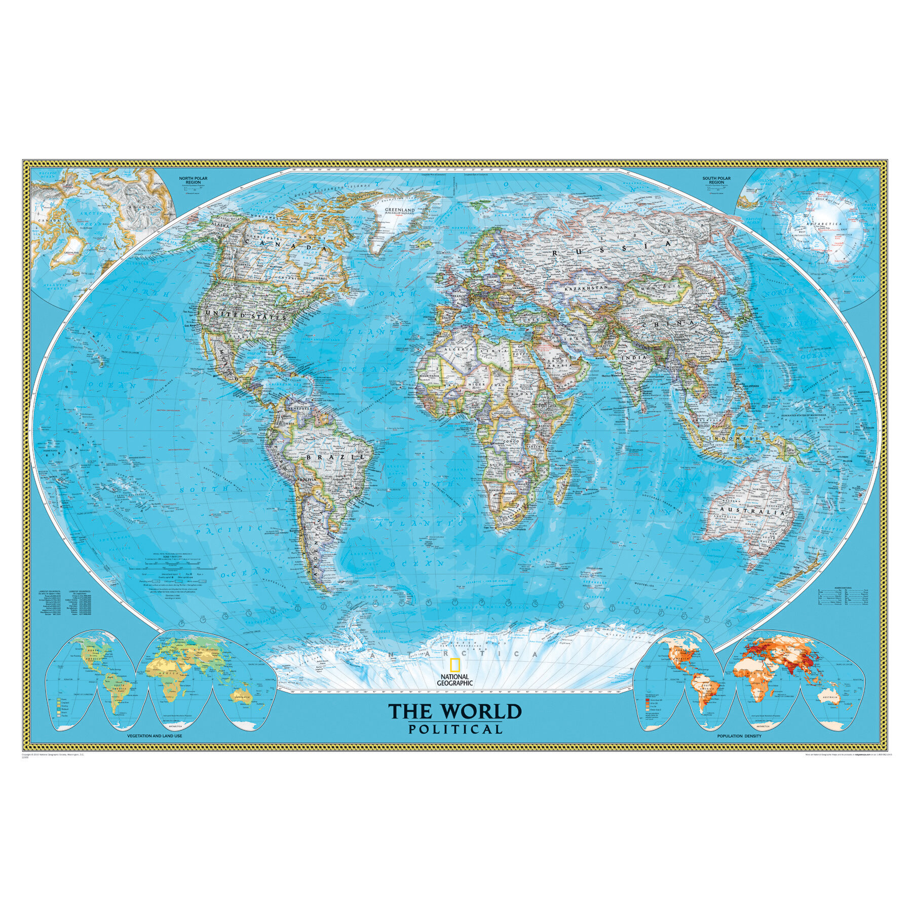 Mural Laminated World Clic Wall Map, 76