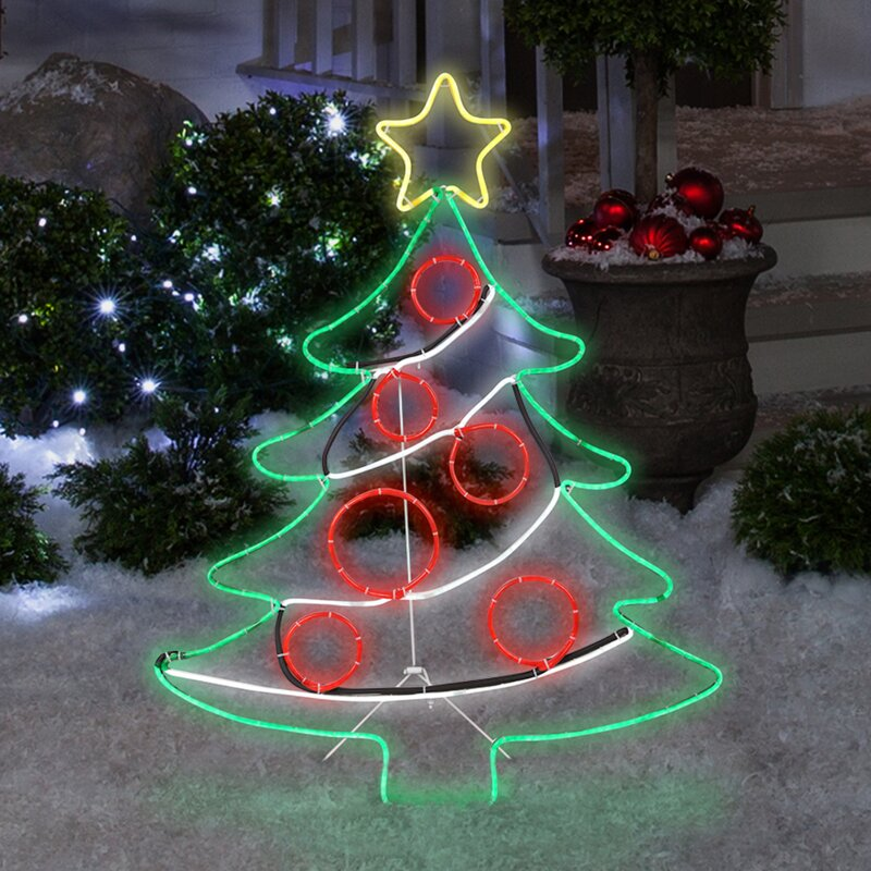 The Holiday Aisle Light Glo Christmas Tree with Star Lighted Display & Reviews | Wayfair