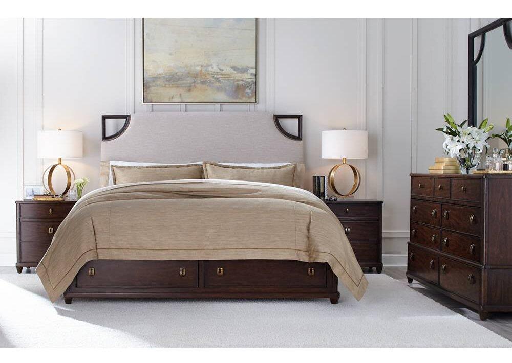 Stanley Virage Upholstered Panel Bedroom Set & Reviews | Wayfair