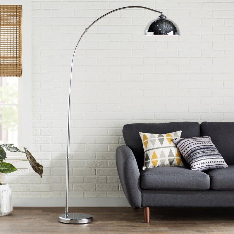 Karlin Chrome Arched Floor Lamp