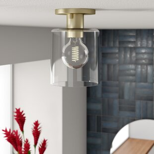 Kearse 1-Light Semi Flush Mount by Mercury Row