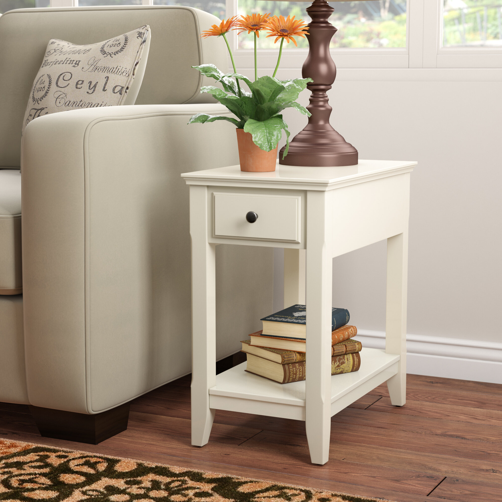 Andover Mills Hillyard End Table With Storage Reviews Wayfair