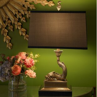 Mounted Dolphin Left 23 Table Lamp
