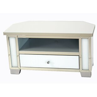 Great Deals June Mirrored Glass Corner TV Stand