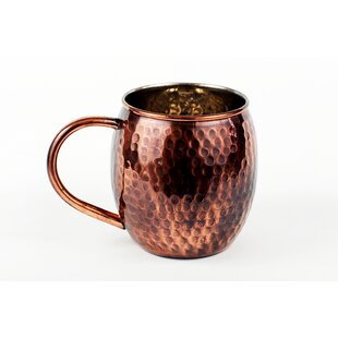 16 oz Antique Finish Copper Barrel Mug