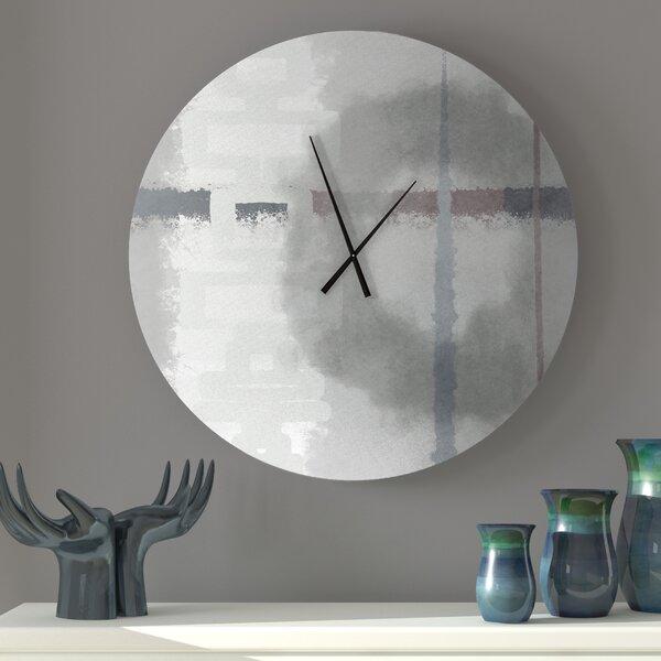 Latitude Run Paternal Large Abstract Metal Wall Clock Reviews Wayfair