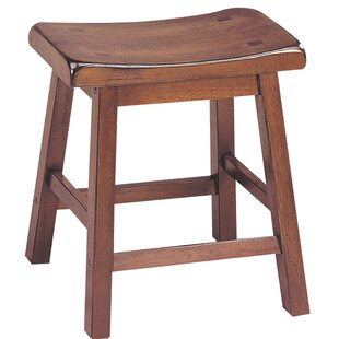 Himrod Saddle Seat Wooden Accent Stool (Set of 2) by Red Barrel Studio