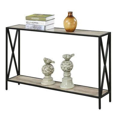 Abbottsmoor Metal Frame Console Table Color: Sandstone by Andover Mills