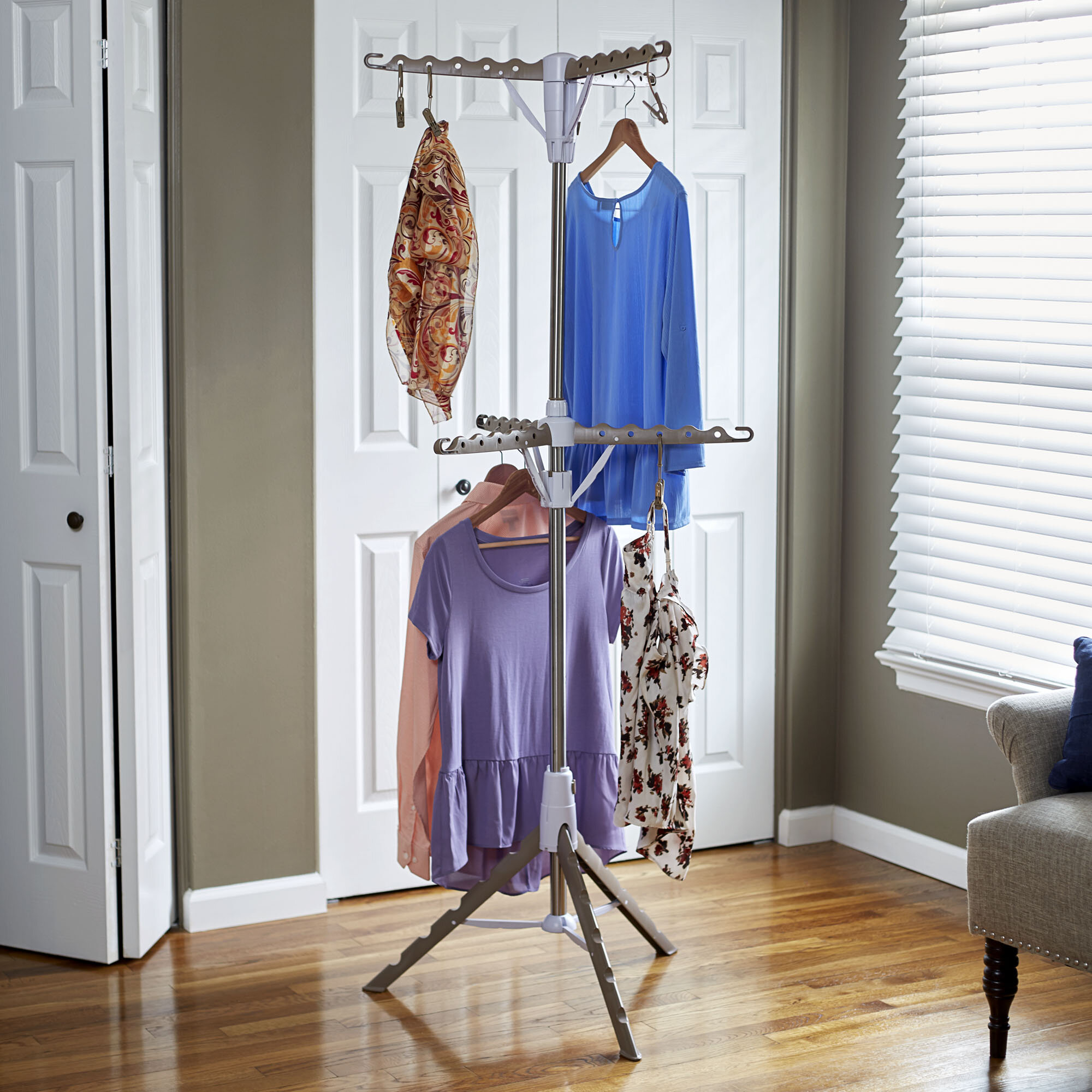 unit with rods freestanding p clothes organizer garment closet storage rack htm free standing hanging
