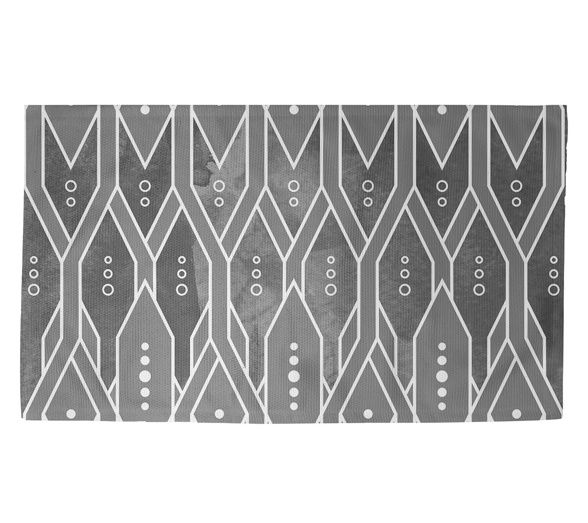 East Urban Home Mcguigan Trellis Pattern Black Area Rug Wayfair