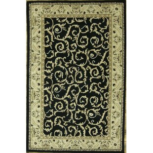 Find a Bovill Oriental Hand-Tufted Wool Black/Beige Area Rug ByCanora Grey