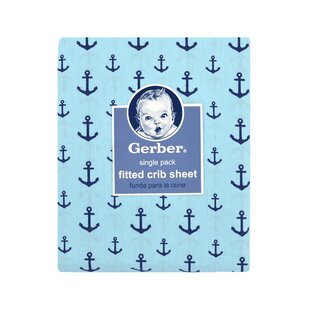 Read Reviews Gerber® Anchors Fitted Crib Sheet ByGerber