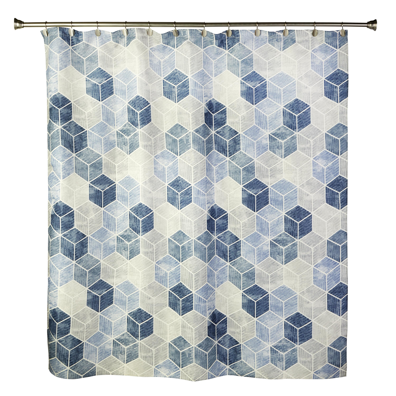 Wrought Studio Woolsey Geometric Shower Curtain Wayfair