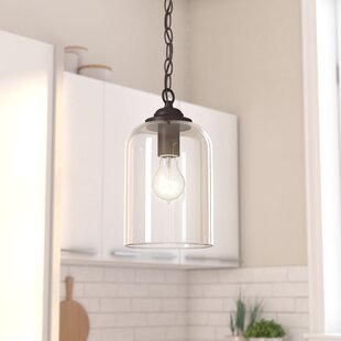 Silber 1-Light Bell Pendant by Wrought Studio