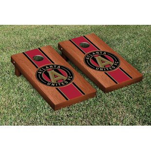 Victory Tailgate MLS Rosewood Stained Stripe Version Cornhole Game Set