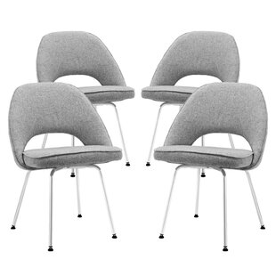 Bradway Upholstered Dining Chair (Set of 4) Mercury Row