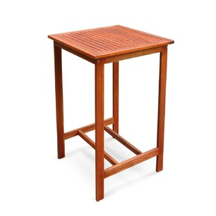 Red Barrel Studio Floria Teak Bar Table
