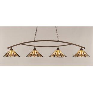 Loon Peak Essonnes 4-Light Metal Billiard Light