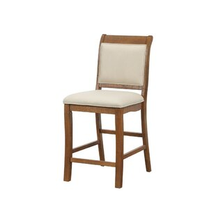 Gillham Birch Wood 24 Bar Stool (Set of 2) August Grove