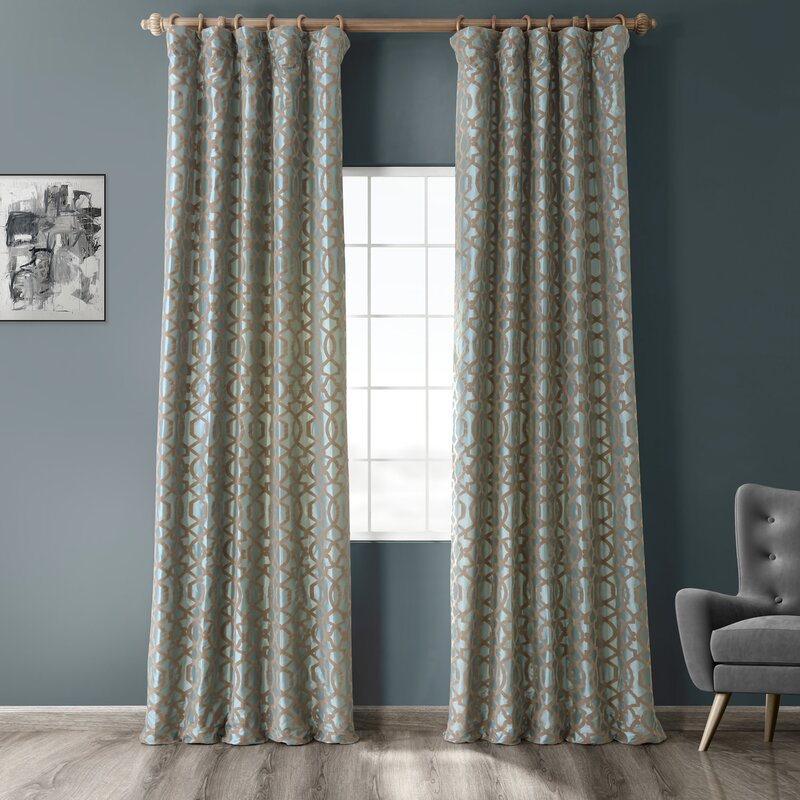 Curtains Blinds All Sizes Luxury White Faux Silk Embroidered Lined Rod Pocket Curtain Panel Home Furniture Diy Gel Lib Com