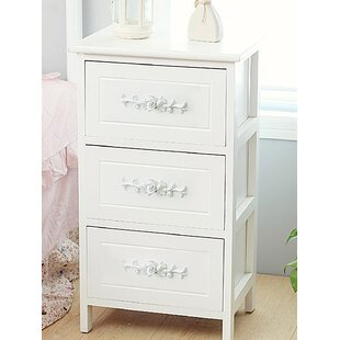 House of Hampton Vitale 3 Drawer Nightstand
