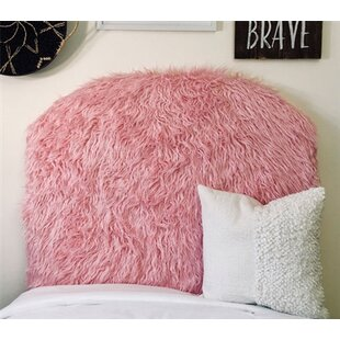 Hosler Mongolian Fur Arched Twin/Twin XL Upholstered Panel Headboard