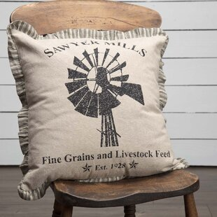 Surikova Windmill 100% Cotton Throw Pillow