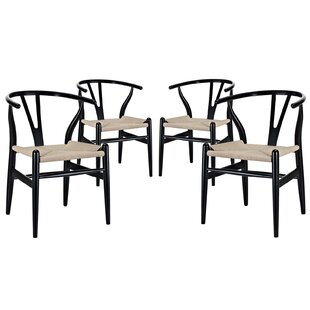 Sydnee Solid Wood Dining Chair (Set of 4) by Mistana