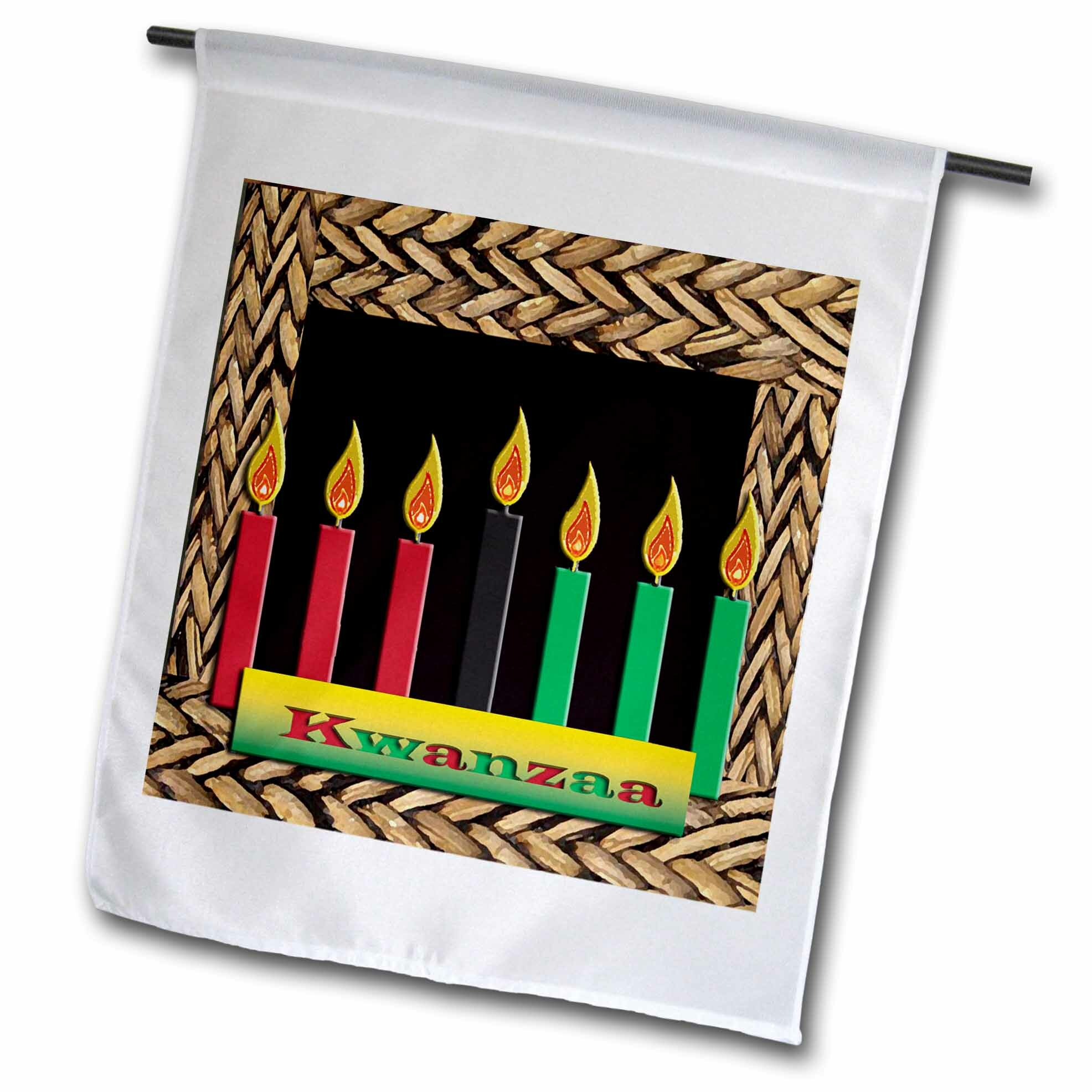 3drose Kwanzaa Candles Polyester 27 X 18 In House Flag Wayfair