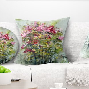 Floral Bouquets of Roses Painting Art Pillow